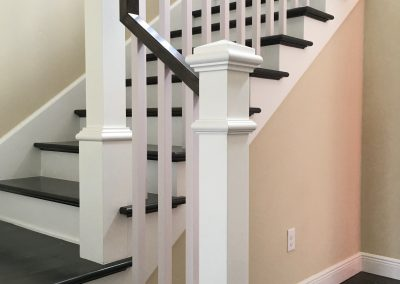 Box Newels Square Balusters REctangular Handrail