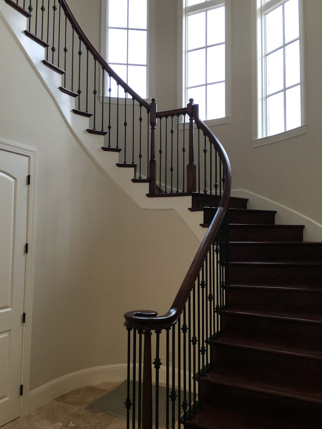 Curved Stair Red Oak Risers U0026 Treads Knuckles 1